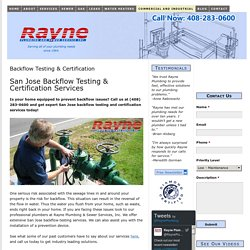 San Jose Backflow Testing & Certification Services
