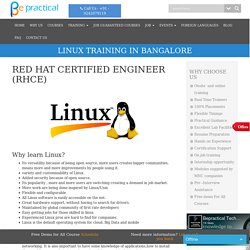 linux training & Red hat Certification institute in Bangalore