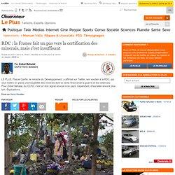 RDC : la France fait un pas vers la certification des minerais? mais c'est insuffisant