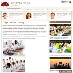 Yoga Certification Course By Arhanta Yoga Ashram