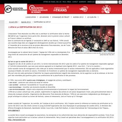 Les Transmusicales - Certification Iso 20121