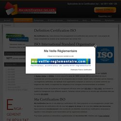 Certification ISO : définition