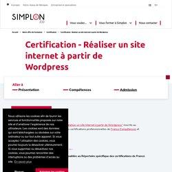Certification - Réaliser un site internet à partir de Wordpress - Sessions ouverts - Simplon.co - Fabriques labellisées Grande Ecole du Numérique - In Code We Trust #frenchtech #ess #empowerment