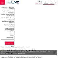 MEDDE 09/10/14 Certification LNE sites et sols pollués
