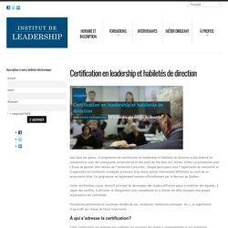 Institut de leadership en gestion – Formations pour cadres et dirigeants