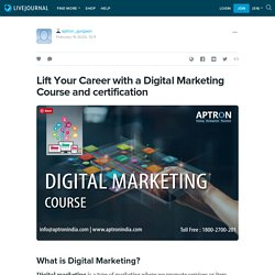 Learn Digital Marketing Course - APTRON Gurgaon