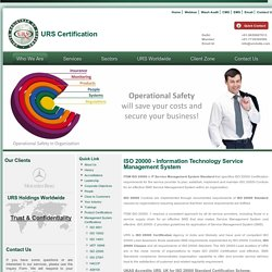 ISO 20000 Certification - IT Service Management, ITSM