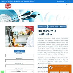 Food Safety Management Systems - ISO Certification