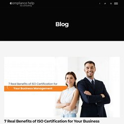Key Benefits of ISO Certification for Business Management