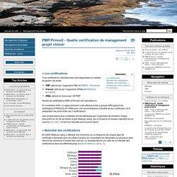 PMP/Prince2 - Quelle certification de management projet choisir