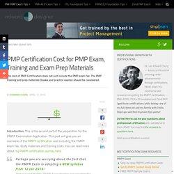 PMP Certification Cost 2016: PMP Exam, Training plus Exam Prep Materials