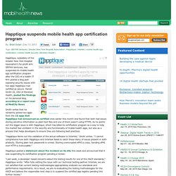 Happtique suspends mobile health app certification program