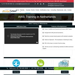 AWS training & certification in Netherlands by experienced trainers
