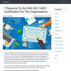 7 Reasons To Go With ISO 14001 Certification For The Organisations