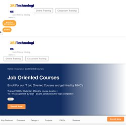 Job Oriented Courses with Certification and Placement