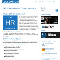 SAP HR Certification Preparation Guide - SAPSPOT