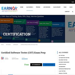 CSTE Certification Test Preparation - EarnQA