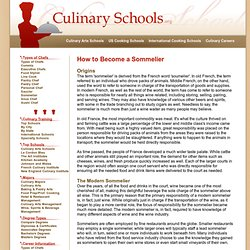 Sommelier Certification: Sommelier Schools Offering Test Preperation, Training Courses & Exams