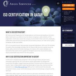 ISO Certification in Qatar - Aegis Services