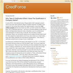 CredForce: Why Take A Certification When I Have The Qualification A Company Wants?