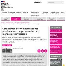 Certification représentants personnel et mandataires syndicaux