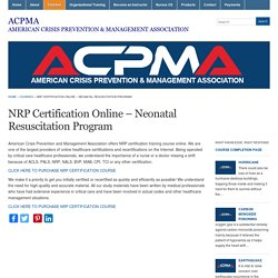 NRP Certification Online - Neonatal Resuscitation Program