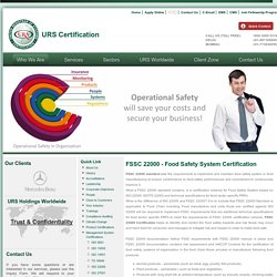 Food Safety System Certification - FSSAI