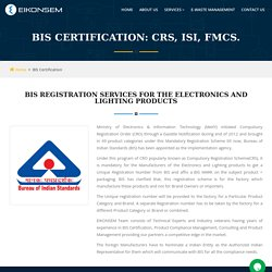 Bis Certification Service in India: Bis Certification Agents