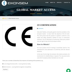 CE Certification Services in India: Eikonsem Services Pvt. Ltd.