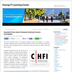 CHFI Training and Certification With Koenig Solutions
