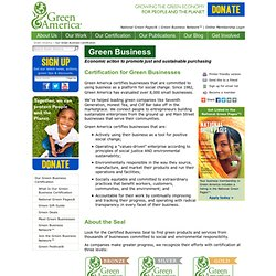 Screening Green Businesses