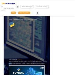 Online Python Training and Certification Course