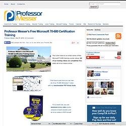 Free A+, Netwrking & MCITP Training