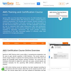 Best AWS Certification Course Training Online by Experts