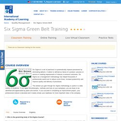 Six Sigma Green Belt Certification & Training in Kolkata