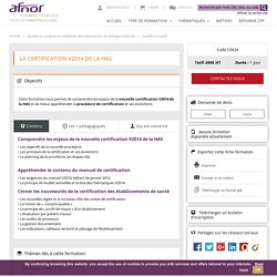 La certification V2014 de la HAS - Formation AFNOR