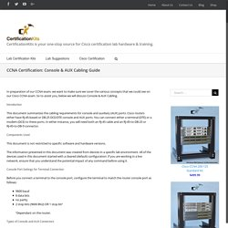 CCNA Certification: Console & AUX Cabling Guide – CertificationKits.com