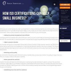 How ISO Certifications Can Help Small Business? - Aegis Services