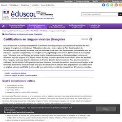 Certifications en langues vivantes étrangères - Certifications en langues vivantes étrangères