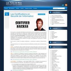 Les Certifications dans la Sécurité Informatique