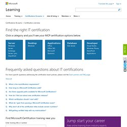 Certification Courses | Certification Training | Microsoft Certification