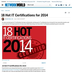 18 Hot IT Certifications for 2014