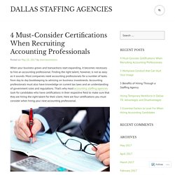 4 Must-Consider Certifications When Recruiting Accounting Professionals