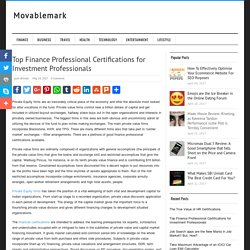 Top Finance Professional Certifications for Investment Professionals