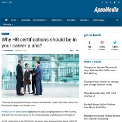 Why HR certifications should be in your career plans?