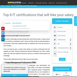 Top 8 IT certifications that will hike your salary