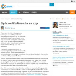 Big data certifications- value and scope