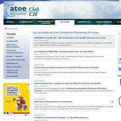 Club certificats d'économies d'énergie