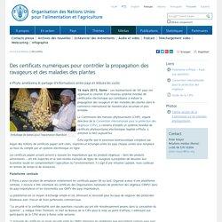FAO 19/03/15 Des certificats numériques pour contrôler la propagation des ravageurs et des maladies des plantes