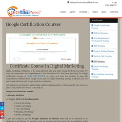 Google Certification Courses in Bhopal